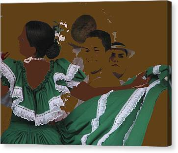 Canvas Print featuring the photograph Bomba Dancers by Aurora Levins Morales