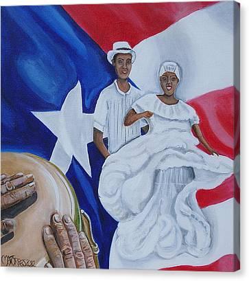 Bomba Canvas Print by Melissa Torres