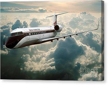 Bombardier-canadair Regional Jet Crj Canvas Print by Wernher Krutein