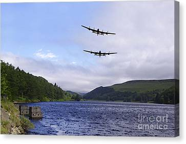 Bombers At The Dam  Canvas Print