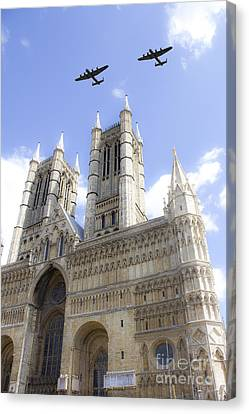 Bombers Over The Cathedral Canvas Print