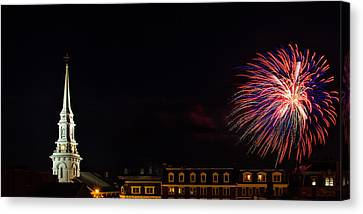 Bombs Bursting In Air Portsmouth Nh Canvas Print