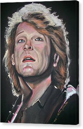 Canvas Print featuring the pastel Bon Jovi by Peter Suhocke