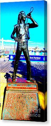 Bon Scott Ac Dc Singer Fremantle Canvas Print by Roberto Gagliardi