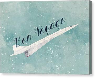 Airplane Canvas Print - Bon Voyage by Randoms Print