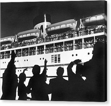Bon Voyage Canvas Print by Underwood Archives