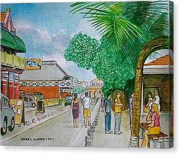 Bonaire Street Canvas Print by Frank Hunter