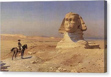 Ruins Canvas Print - Bonaparte Before The Sphinx by Jean-Leon Gerome