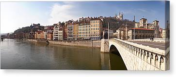 Bonaparte Bridge Over The Saone River Canvas Print by Panoramic Images