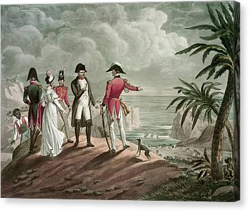 Bonaparte On St. Helena Steel Engraving Canvas Print by Francois Martinet