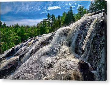Canvas Print featuring the photograph Bond Falls   by Lars Lentz