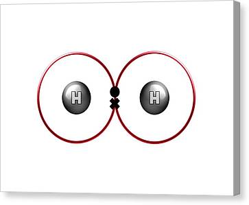 Bonding Canvas Print - Bond Formation In Hydrogen Molecule by Animate4.com/science Photo Libary