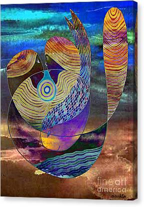 Canvas Print featuring the painting Bonded In Harmony by Mukta Gupta