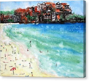 Bondi Beach Canvas Print by Lyndsey Hatchwell