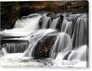 Michigan Waterfalls Canvas Print - Bonding With Nature by Heather Kenward