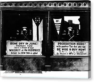 Bone Dry In June - Prohibition Sale Canvas Print by Bill Cannon