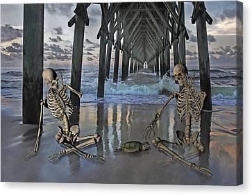 Bonefied Buddies Canvas Print