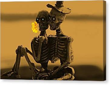 Bones In Love  Canvas Print by David Dehner