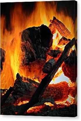 Combustion Canvas Print - Bonfire  by Chris Berry