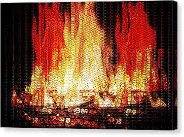 Combusting Canvas Print - Bonfire Mosaic by Dan Sproul