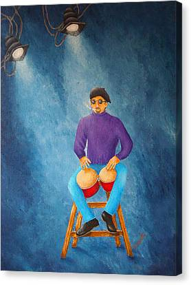 Bongo Man Canvas Print by Pamela Allegretto