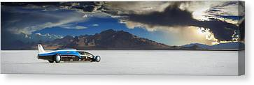 Salt Flats Canvas Print - Bonneville 608 by Keith Berr