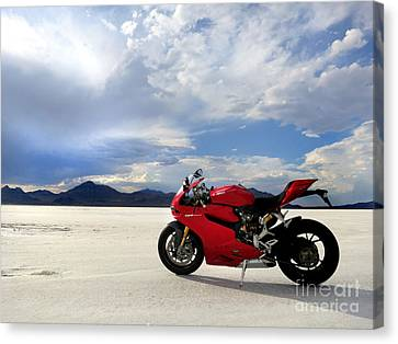 Bonneville Salt Flats 2 Canvas Print by AntiHero Panigale