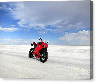 Bonneville Salt Flats Canvas Print by AntiHero