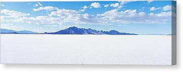 Bonneville Salt Flats, Utah, Usa Canvas Print