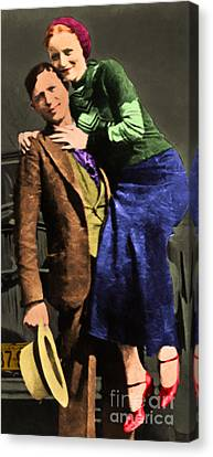 Bonnie And Clyde 20130515 Long Canvas Print by Wingsdomain Art and Photography