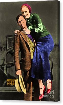 Bonnie And Clyde 20130515 Canvas Print by Wingsdomain Art and Photography