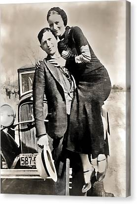 Bonnie And Clyde - Texas Canvas Print