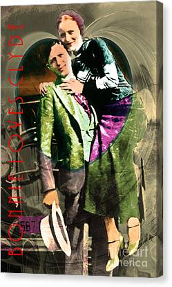 Bonnie Loves Clyde 20150523 With Text V2 Canvas Print