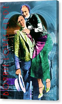 Kitschy Canvas Print - Bonnie Loves Clyde 20150523 With Text by Wingsdomain Art and Photography