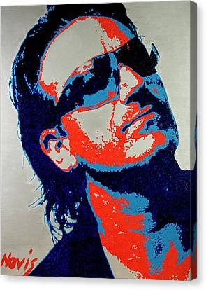 Bono Canvas Print by Barry Novis