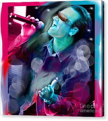 Bono Of U2 Canvas Print by Diana Riukas