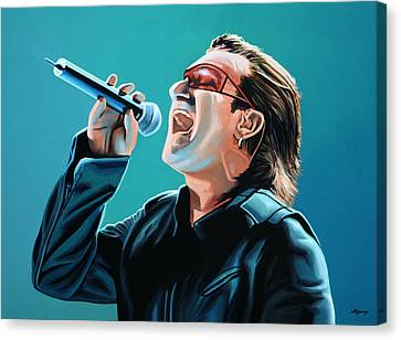 Bono Of U2 Painting Canvas Print by Paul Meijering