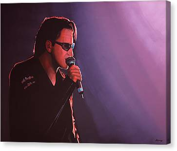 Bono U2 Canvas Print by Paul Meijering