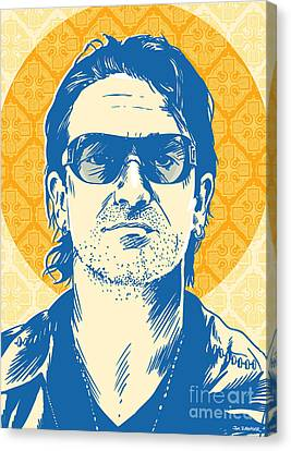 The Edge Canvas Print - Bono Pop Art by Jim Zahniser