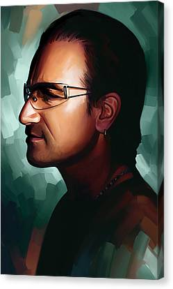 Bono U2 Artwork 1 Canvas Print by Sheraz A