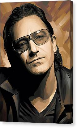 Bono U2 Artwork 2 Canvas Print by Sheraz A