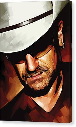 Bono U2 Artwork 3 Canvas Print by Sheraz A