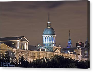 Bonsecours At Night Canvas Print