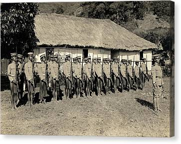 Bontoc Soldiers Canvas Print by American Philosophical Society