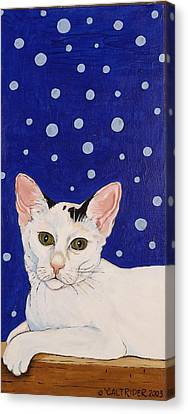 Canvas Print featuring the painting Booboo by Alison Caltrider