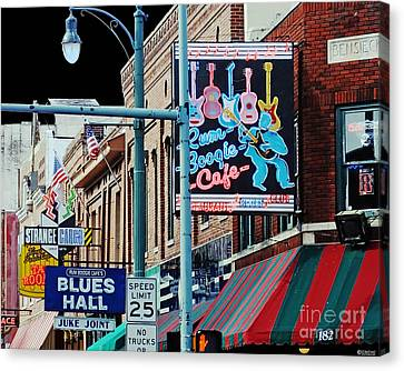 Boogie On Beale St Memphis Tn Canvas Print
