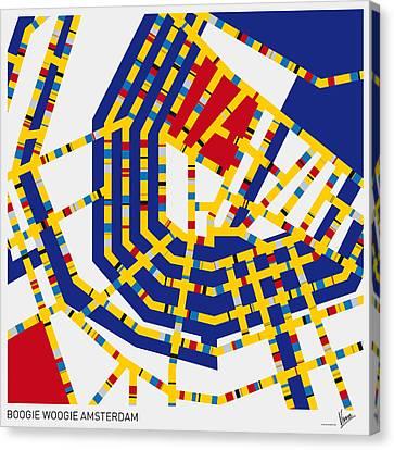 Sydney Canvas Print - Boogie Woogie Amsterdam by Chungkong Art
