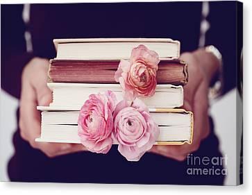 Book Love Canvas Print by Kim Fearheiley