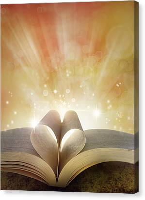 Book Love Canvas Print by Les Cunliffe