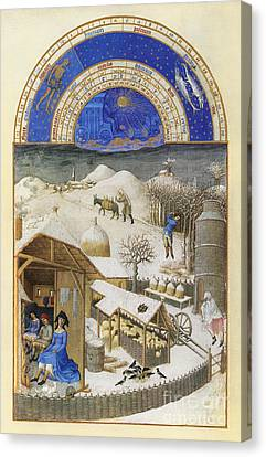 Book Of Hours: February Canvas Print by Granger